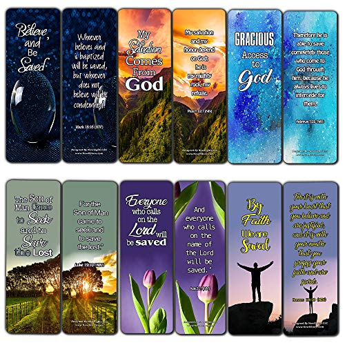 - Scriptures Cards - Powerful Scriptures About Salvation (30 Pack) - Handy Evangelism Bible Verses
