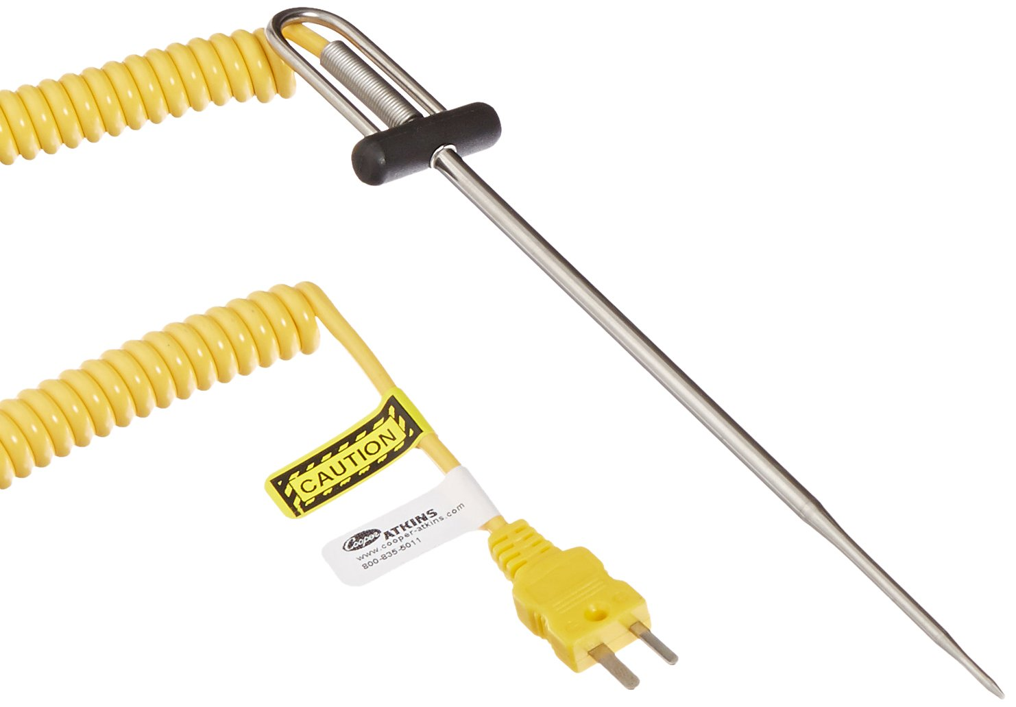 Cooper-Atkins 50336-K Type K DuraNeedle Thermocouple Probe with Polyurethane Jacket Cable, -40 to +500 degrees F Temperature Range