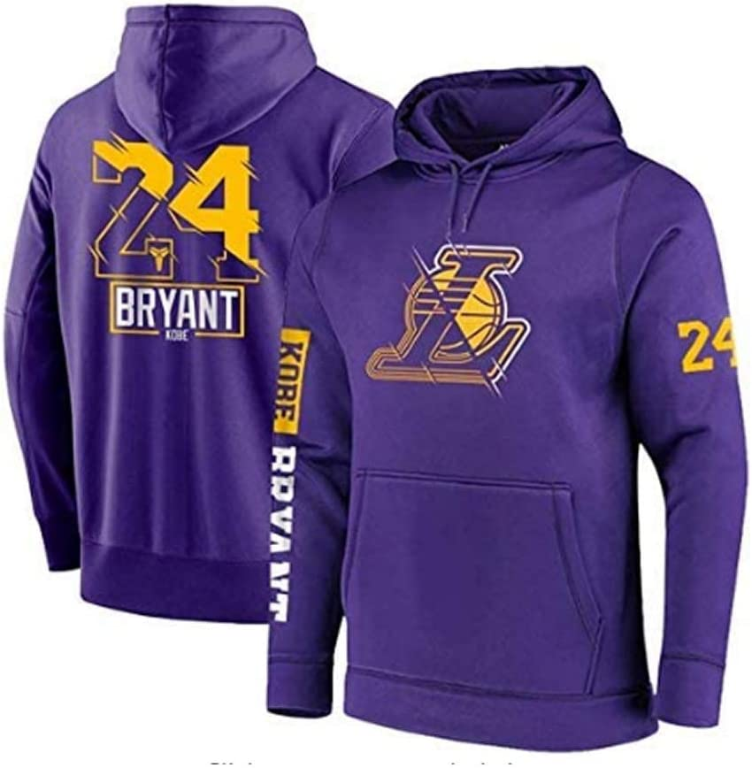 GR/ÖSSE: S-XXXL Lakers 24# Jersey Kapuzenpullover Loses Basketball Sweatshirt T-Shirt Genrics Herren Basketball Hoodie