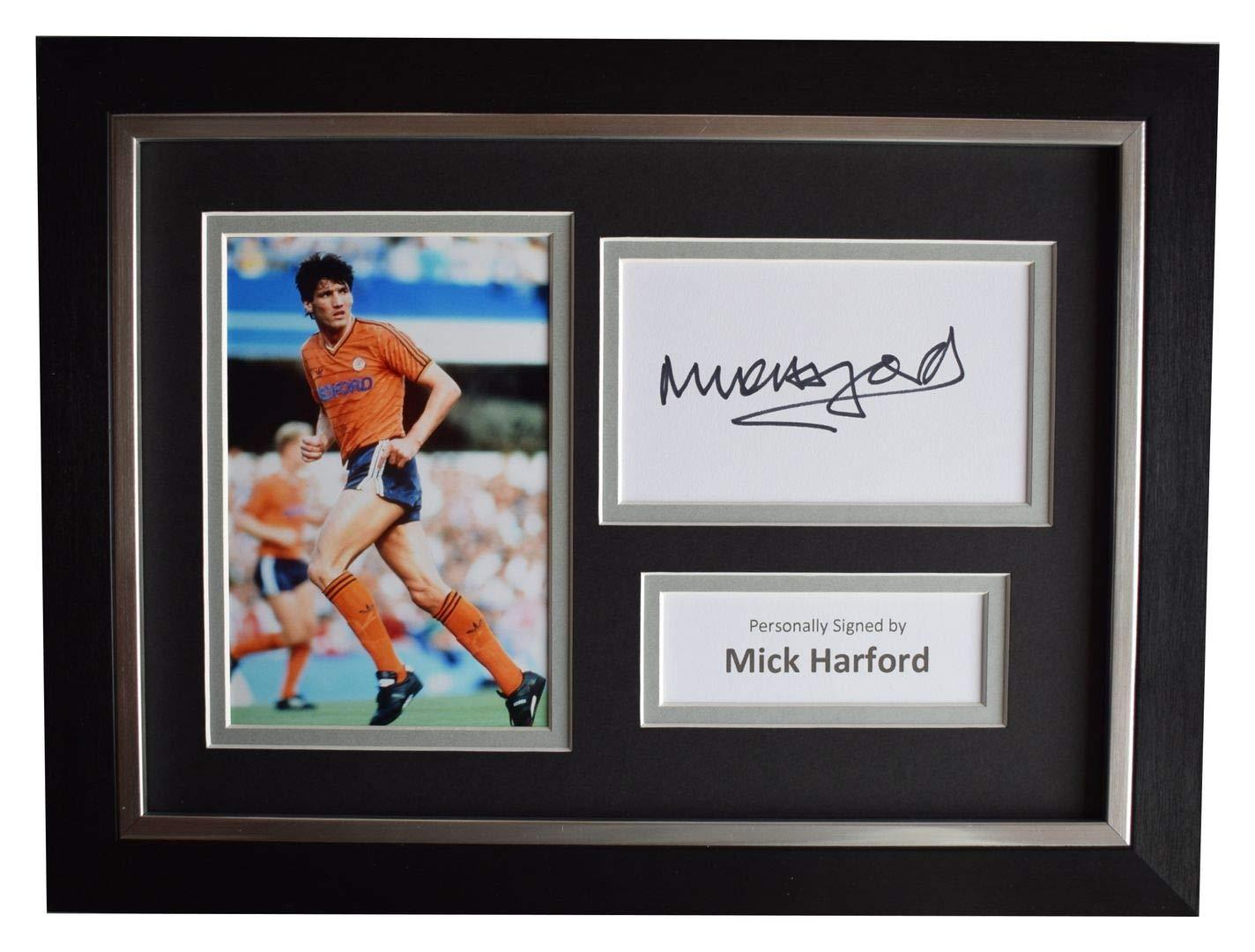 Sportagraphs LTD Mick Harford Signed A4 Framed Autograph Photo Display Luton Town AFTAL COA