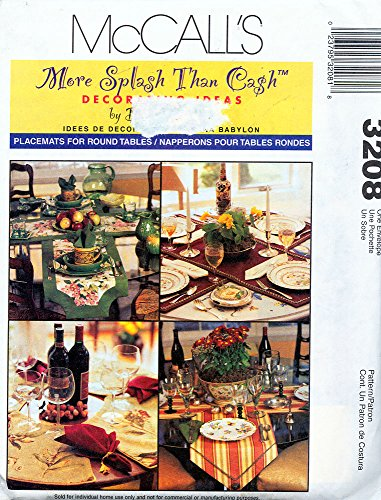 McCall's 3208 ©2001 More Splash Than Cash Runners and Placemats (Placemat Mccalls)