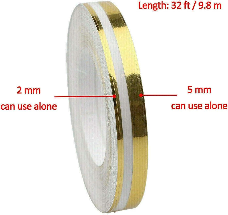 Jabtraxx 2 Stück Universal Car Striping Double Line Nadelstreifenband Vinyl Aufkleberrolle Für Diy Aufkleber Auto
