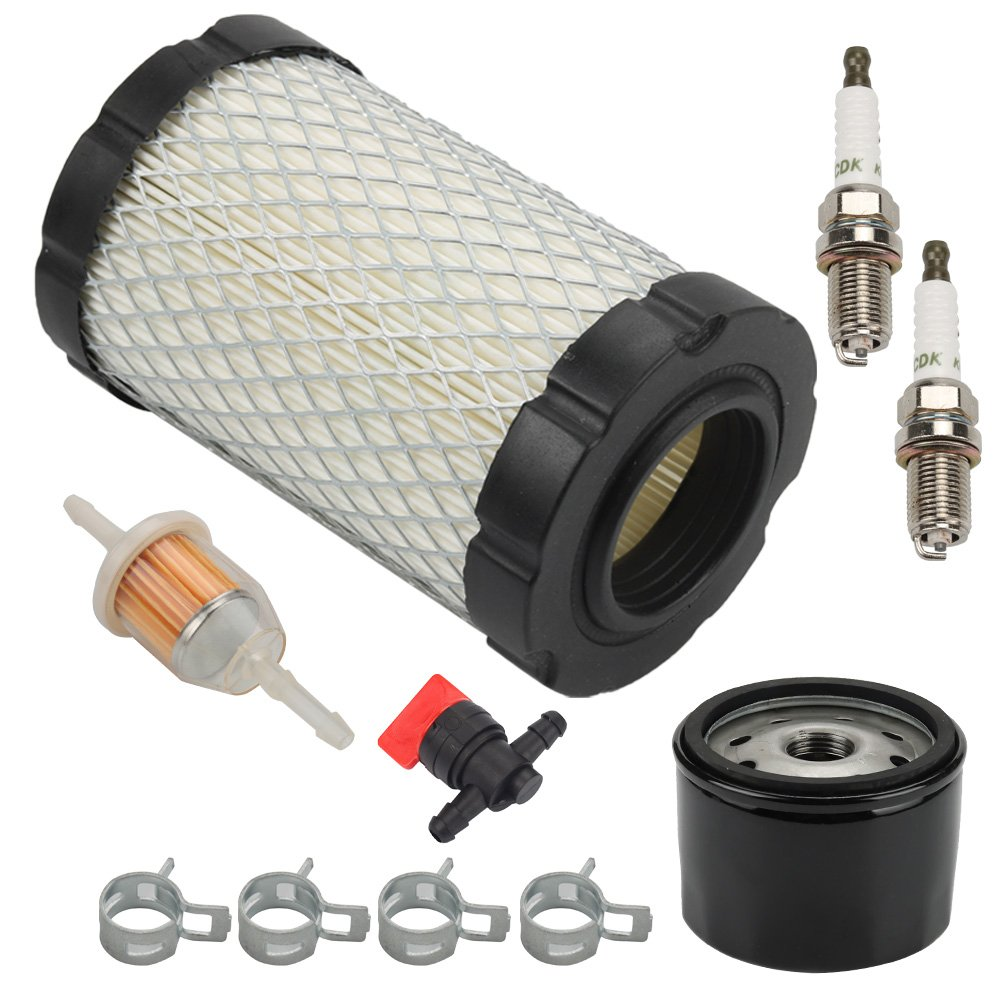 Harbot D125 MIU14395 Air Filter for John Deere D100 D105 D125 D130 D140 D110 E140 E130 E100 E120 LA145 LA135 Z255 Z235 X330 Lawn Tractor with Tune Up Kit (Two Cylinder Engine)