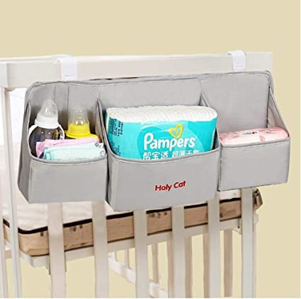 Babys Toys Bottles Portable Nursery Storage Bin Great for Storing Diapers Baby Shower Gift Basket for Changing Table and Car Grey Clearworld Baby Diaper Caddy Organizer