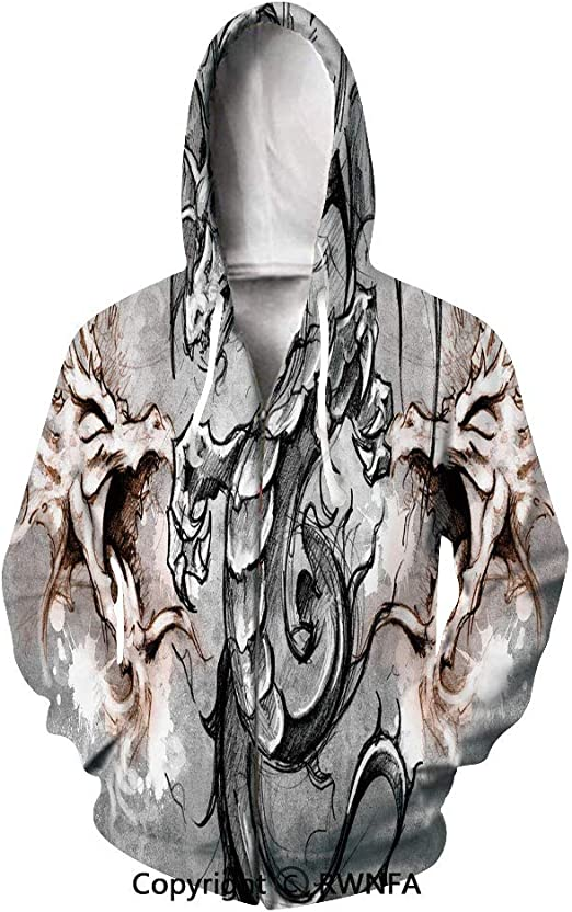 unbrand Color Star 3D Digital Printing Pullover with Loose Hoodie for Men and Women