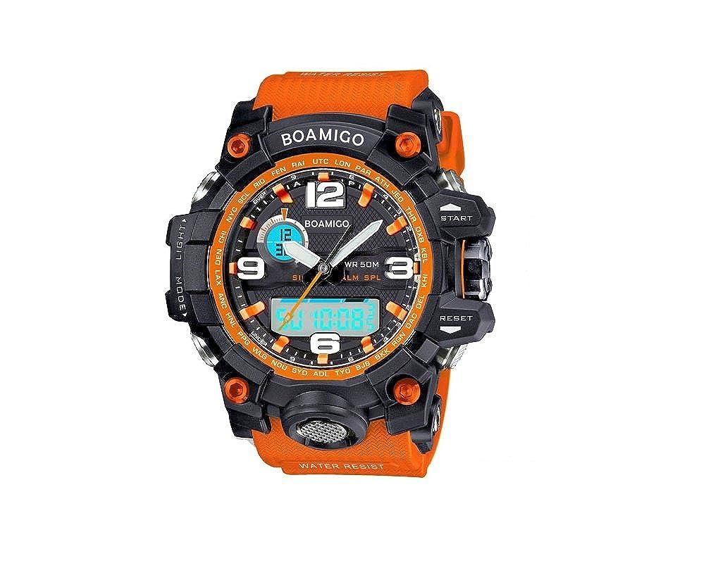 Amazon.com: Relojes de Hombre Sport LED Digital Military Water Resistant Watch Digital Men RE0062: Watches