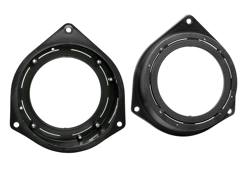 Lautsprecherringe 100-120mm+Adapter für Opel Corsa D Lautsprecher Heck Seite