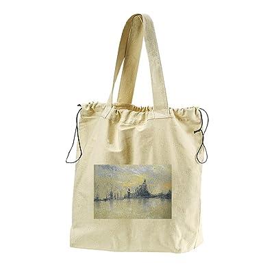 Sunset, Venice (Whistler) Canvas Drawstring Beach Tote Bag