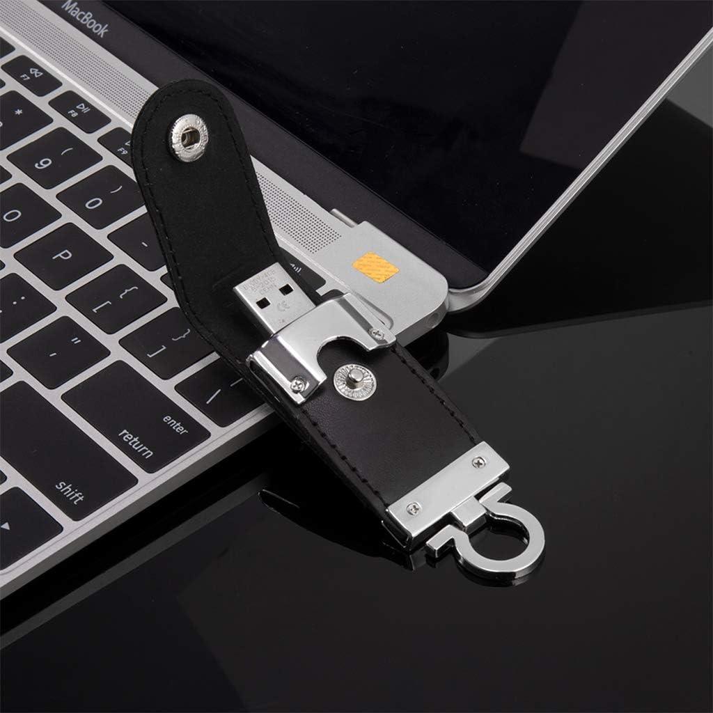 PU Leather 64GB USB 2.0 Flash Drive Pen Drive Memory Stick Flash Drive Thumb Drive for Computer Tablet PC Notebook Laptop Black
