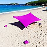 ZiggyShade – Beach Tent – Sun Shade – With Sandbag Anchors – UPF50+ (Violet, Standard) Review