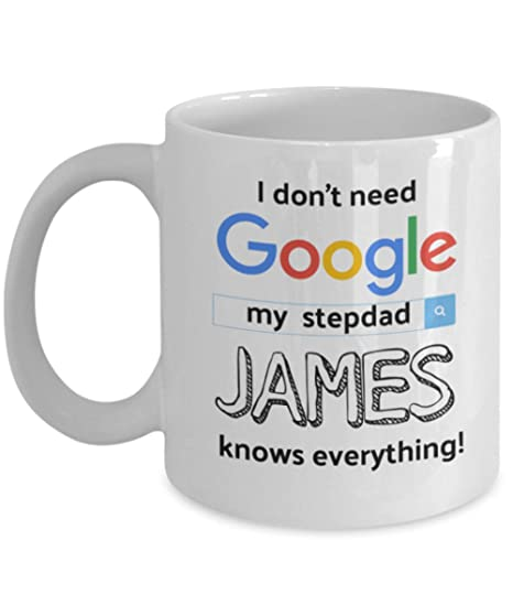 Amazon.com: Step Dad Personalized Mug For Father. I Don\'t ...