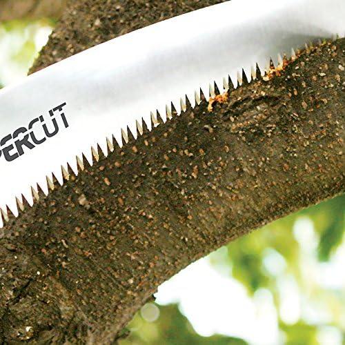 330 mm Schnittl/änge gebogen mit Schutzh/ülle und G/ürtelschlaufe Bio Green SCC330 Super Cut Hands/äge