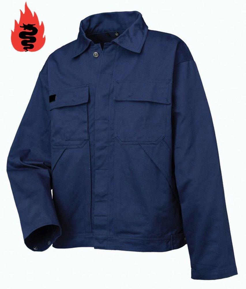 Warrior Workwear 0118PJ/S - Chaqueta ignífuga (talla pequeña), color azul marino