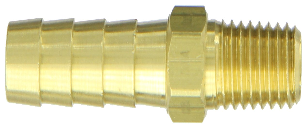 1//2 Hose ID 1//4-18 NPTF Male Pipe Thread Eaton Hansen S22 Brass Hose Stem