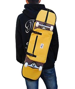 Monark Supply Mochila para Llevar el monopatin, Llevar tu Skate al Colegio.Forma Comoda de Llevar tu Skateboard. Color Amarillo: Amazon.es: Deportes y aire ...