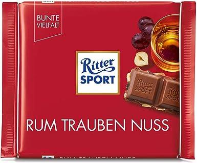 Ritter Ron Deporte, Pasas Y Avellanas 100g De Chocolate Con ...