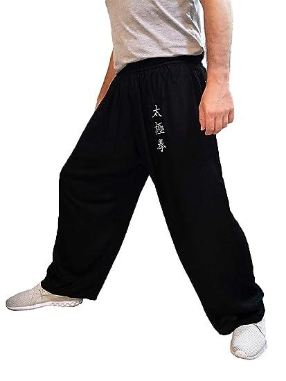 Pantalones de Tai Chi Taza Amplia Hombre y Mujer y Niño ...