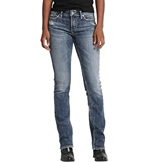 Amazon.com  Silver Jeans Women s Tuesday Low Rise Slim Bootcut Jean ... ee5973a39b