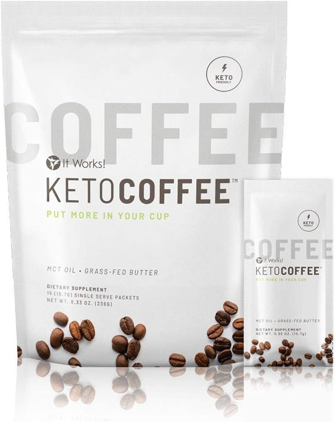 Amazon Com It Works Keto Coffee Ketocoffee Packets 15 Individual Servings Per Bag Health Personal Care