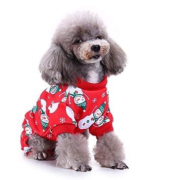 Glumes Ropa para perro, Ropa para mascotas, Navidad, Nieve Hombre Patrón Algodón Sudadera