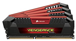 Corsair CMY32GX3M4A1600C9R Vengeance Pro 32GB (4x8GB) DDR3 1600 MHz (PC3 12800) Desktop, Red 1.5V