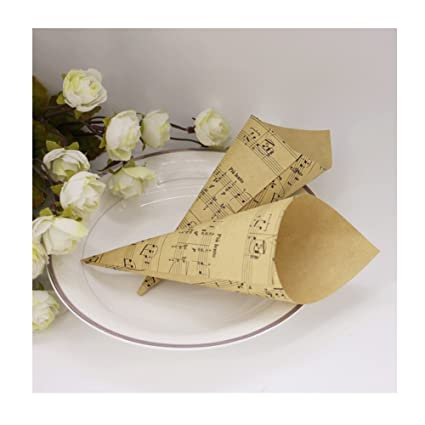 StageOnline 50 Piezas Conos Arroz Boda Retro Papel Kraft ...