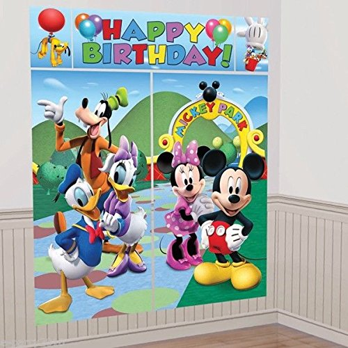 Disney Mickey & Friends Scene Setters Wall Banner Decorating Kit Birthday Party Supplies