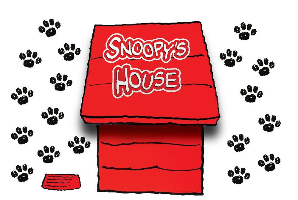 Eureka Classroom Supplies Giant Peanuts Dimensional Dog House Bulletin Board Sets for Back to School, 18''x0.1''x28'', 1 pc.