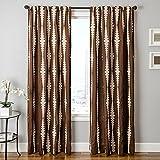 Softline Home Fashions Cozumel Series Boucle Window Curtain/Drape/Panel/Treatment, Chocolate, 55 x 108 For Sale