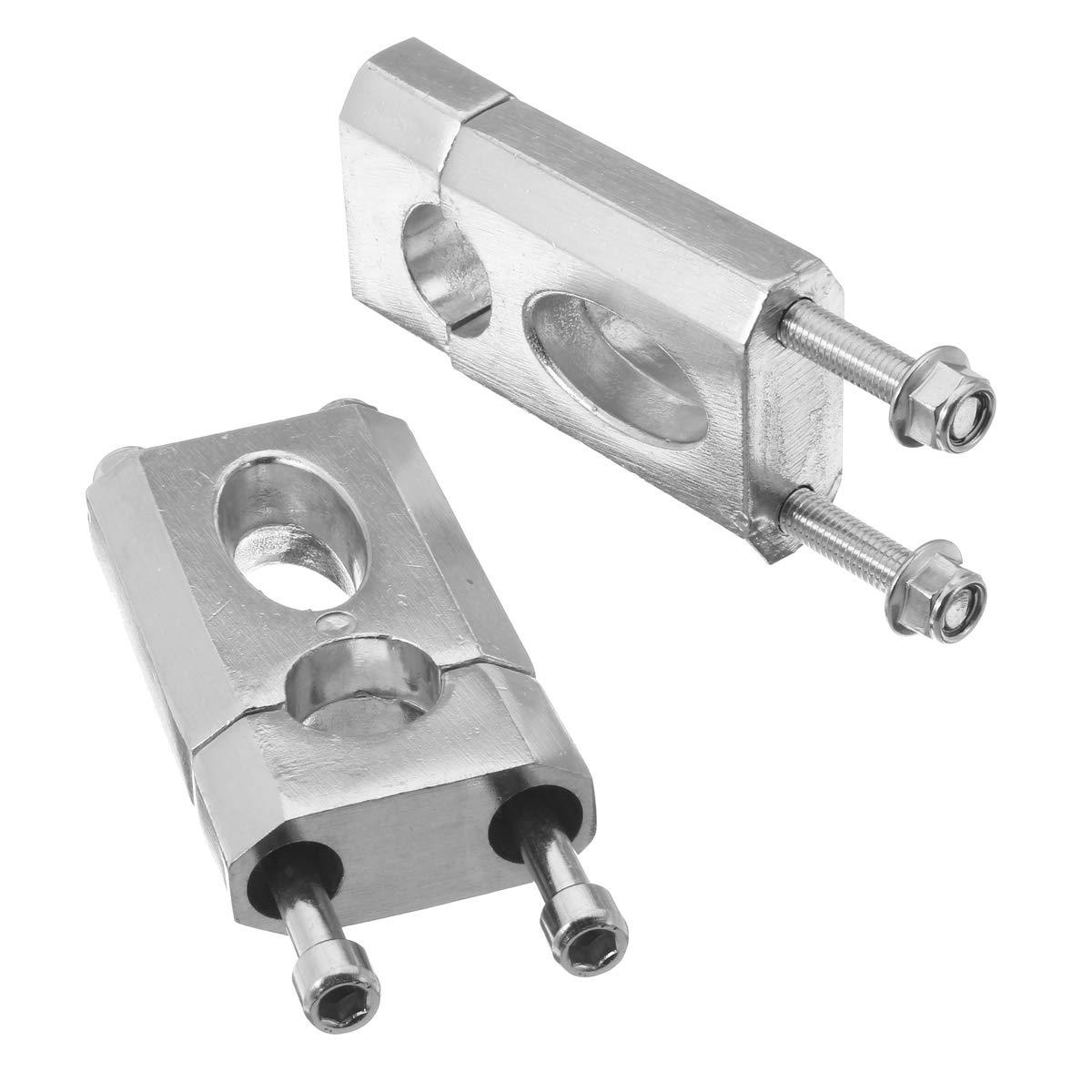 Aluminio 7//8 /'/' 22 mm Manillar Abrazadera Montaje vertical 50cc 110cc 125cc Dirt
