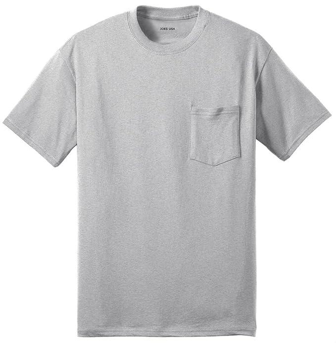 ed6b124d59d Joe s USA Pocket Tees - Mens 50 50 Cotton Poly Pocket T-Shirt