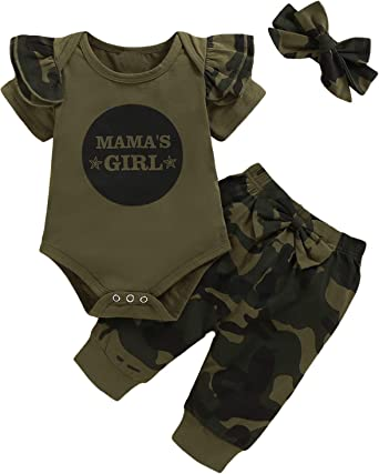 Camouflage Baby Girl Outfit Personalized Baby Outfit Camouflage First Birthday Girl Outfit  Baby Girl Clothes Newborn Camo Baby Shower Gift