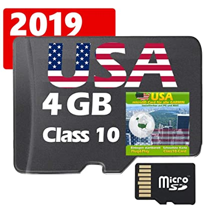 Micro Sd Karte 4gb.Usa Gps Karte 4gb Microsd Fur Garmin Navi Pc Und Mac Original Von Stiltec C
