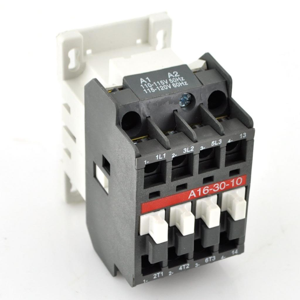 Direct Replacement for Asea ABB A16-30-10 ABB Contactor A16-30-10-84 120V Coil 3PH 3 Pole 600V AC 17Amp 2 year Warranty