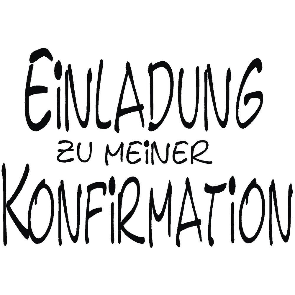 RAYHER 28393000–Stamp with Einladung zur Konfirmation [Invitation to Confirmation] Slogan 5x 7cm, Item 11701 RAYHER HOBBY