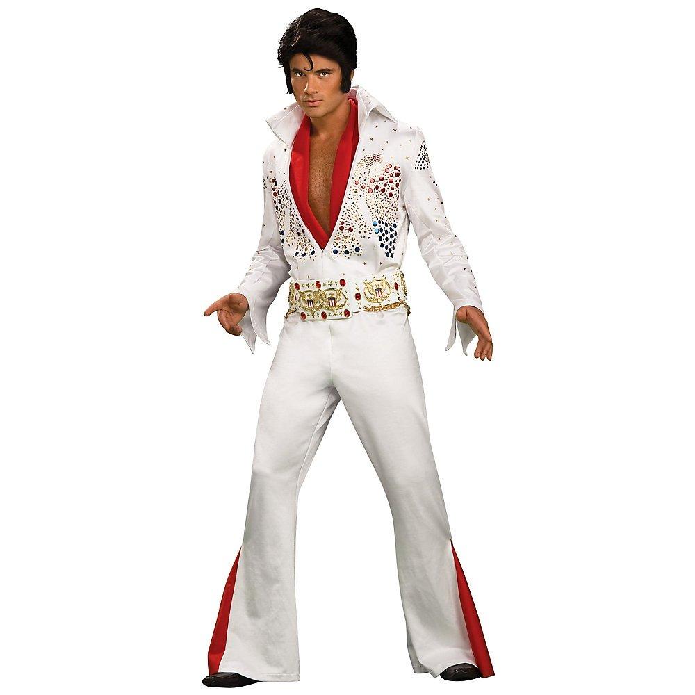 Super Deluxe Elvis Costume -White- Medium - Chest Size 40-42