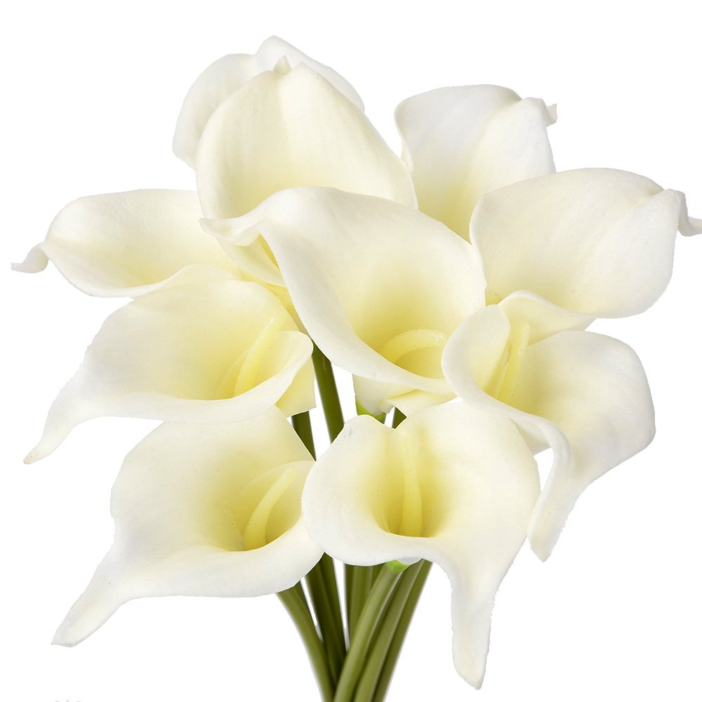 ATPWONZ-10pcs-Calla-Lily-Artificial-Flowers-Wedding-Bridal-Bouquet-Latex-Real-Touch-Home-Party-Decoration-Pale-Yellow