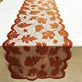 Software : Hot Sale!DEESEE(TM)Maple Leaf Lace Table Runner Perfect for Fall Dinner Parties Restaurant Decor