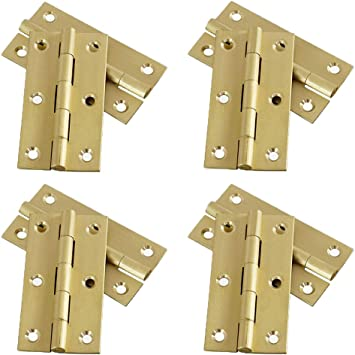 10x Antique Brass Mini Hinges Small Butterfly Butt Hinges for Wooden Jewelry Boxes Chests Furniture