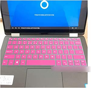 """13.3"""" Notebook Laptop Silicone Keyboard Cover Skin Compatible for DELL XPS 13 9370 / XPS 13 9365 13 9370 13 9365,Rose"""