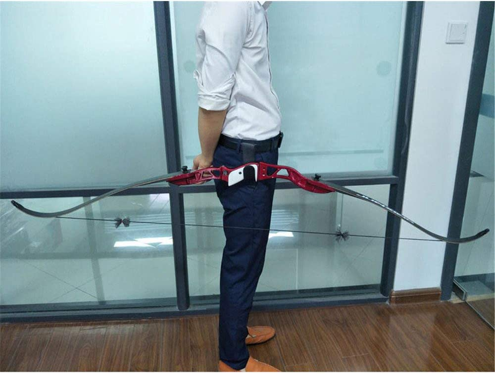 SHARROW Archery Accessories Bow Hook Leather Bow Waist Belt Holder Bow Holster Stand for Recurve Bow Longbow