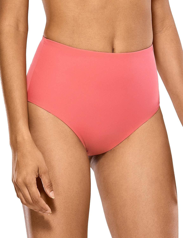 CRZ YOGA Costume da Bagno a Vita Alta Donna Bikini Bottom Swimsuit Beachwear
