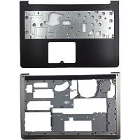 YUHUAI Piezas de Repuesto para Portátil DELL Inspiron 15-5000 5545 5547 5548, Palmrest Upper Cover Case+Bottom Base Cover Case