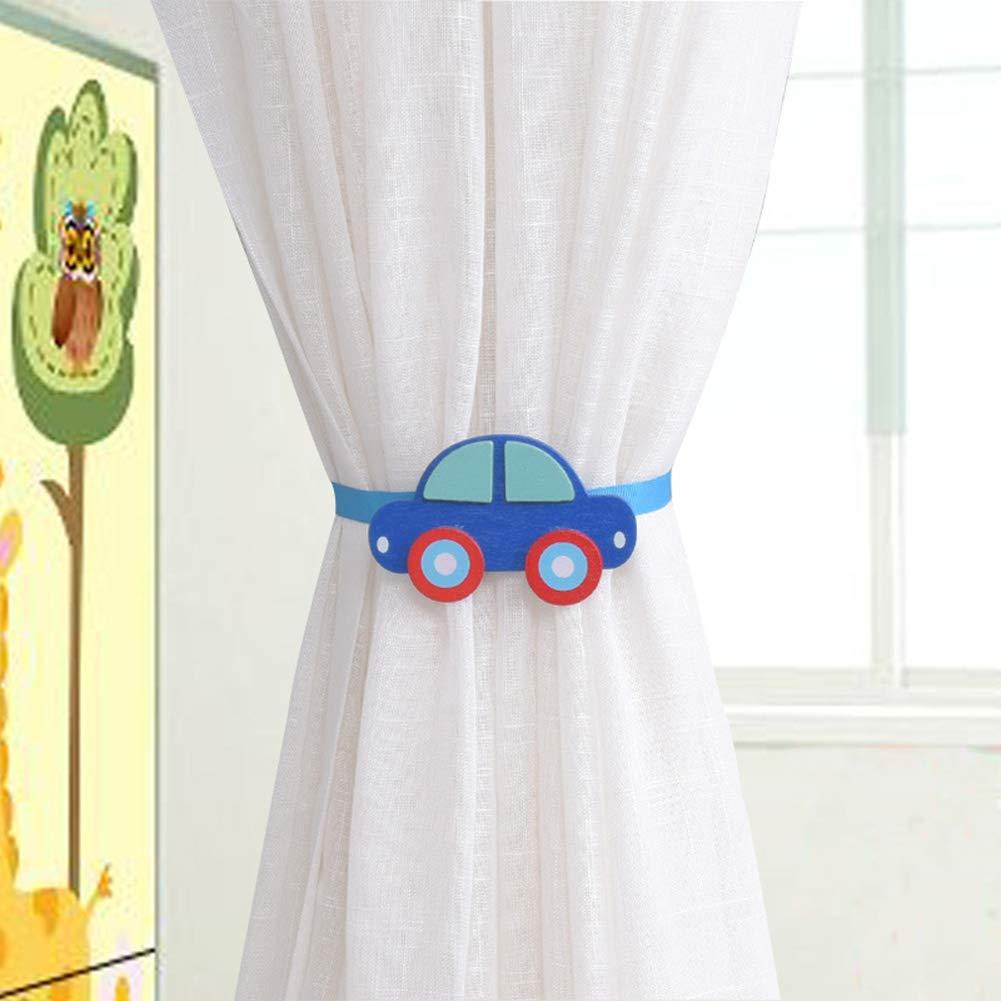Cartoon-Auto-Fu/ßball-Fenstervorhangschnalle 1# 1# Schlafzimmer-Dekoration Seil P12cheng Vorhang Raffhalter magnetischer Raffhalter magnetische Vorhangklammern