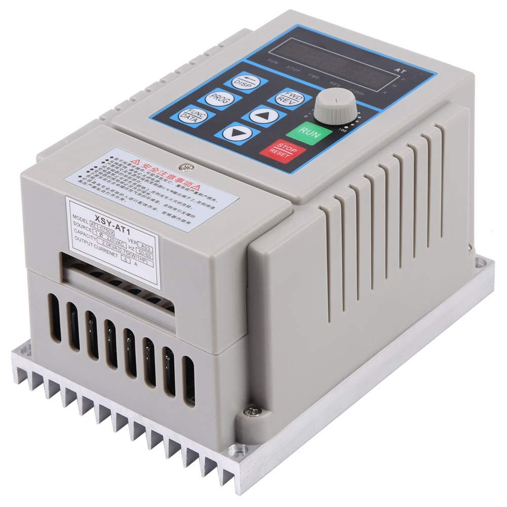 VFD 0.75kW Variable Frequency Converter PLC Single Phrase Overloaded Vector Motor Drive for Spindle Motor Speed Control