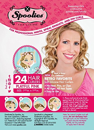 Amazon Original Spoolies Hair Curlers Medium Size 24 Count