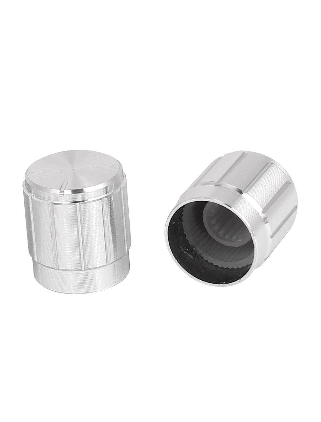 Amazon.com: eDealMax aleación de aluminio Perillas de potenciómetro del casquillo 10pcs 15x16mm tono Plata: Electronics