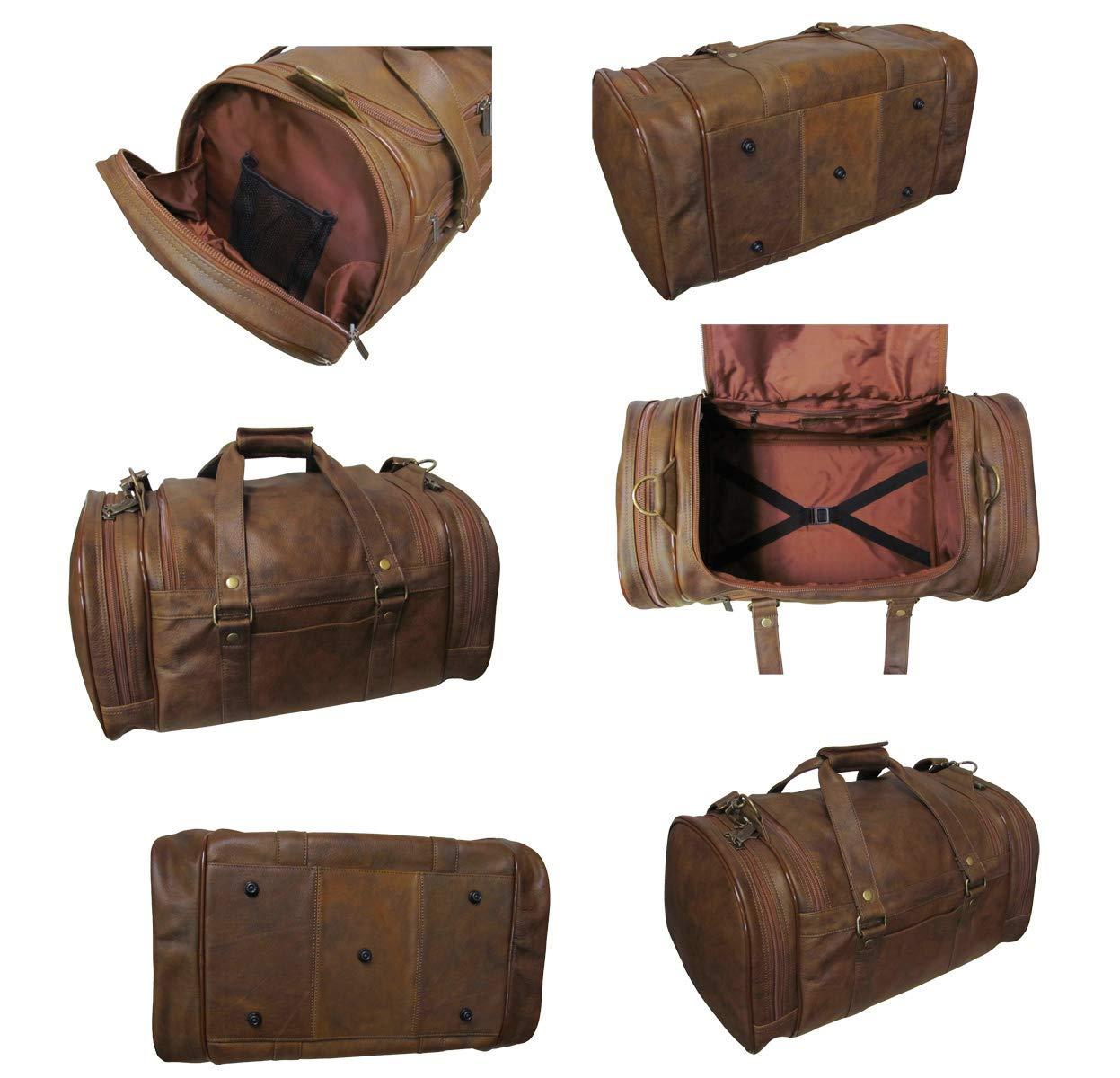 Amerileather 22 Jumbo Duffel Black//Duffel//Leather