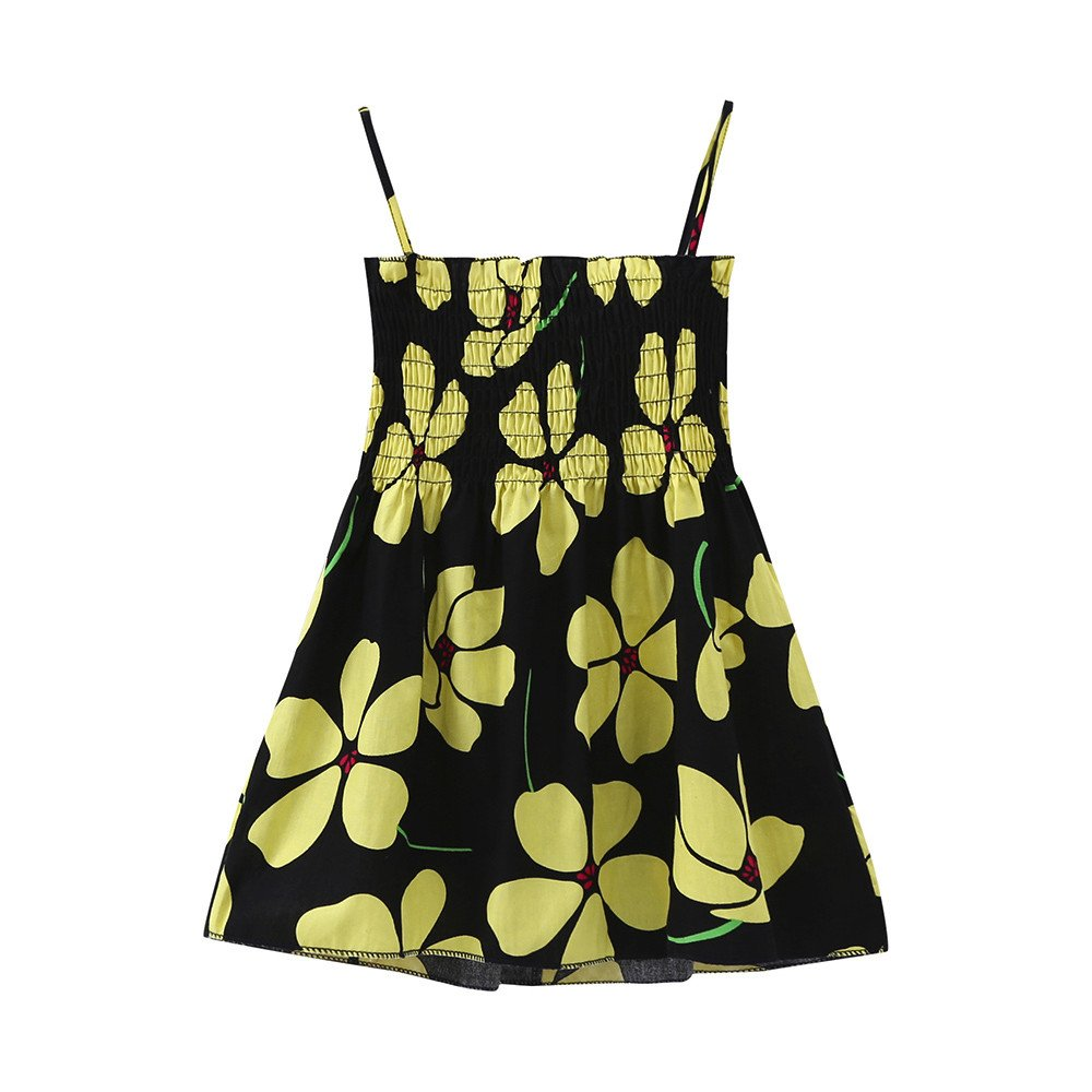 a8646b5be Amazon.com  Tootu Baby Girls Infant Kids Cartoon Floral Dress Clothes  Sundress Casual Dresses  Clothing