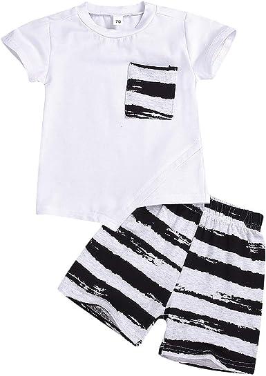 Conjunto de ropa de verano de algodón para bebé y niño, camiseta y ...